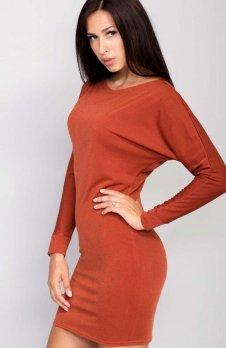 Cover ММ1016 sukienka ruda