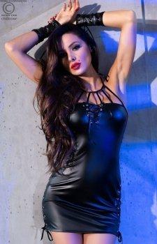 Erotyczna sukienka z eksokóry Chilirose 4338