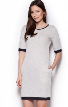 Figl M348 sukienka jasnoszara