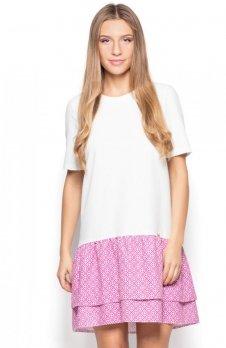 Katrus K412 sukienka różowa