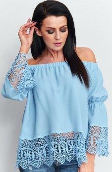 Roco B036 bluzka hiszpanka błękitna