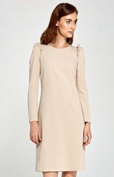 Nife S89 sukienka beżowa