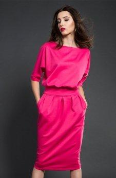 Kasia Miciak design mono sukienka fuksja