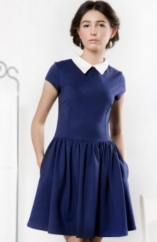 Kasia Miciak design kołnierzyk sukienka