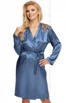 Elodie satynowy szlafrok damski blue