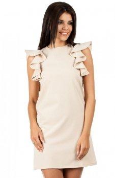 Moe MOE099 sukienka beżowa