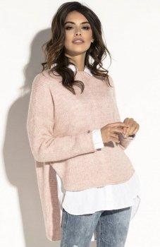 Fobya F585 sweter pudrowy