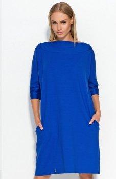 *Makadamia M317 sukienka chabrowa
