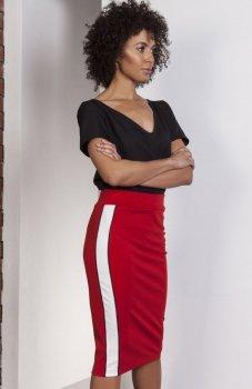 Lanti SP117 spódnica czerwona
