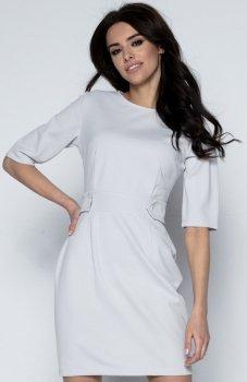 Fobya F492 sukienka szara