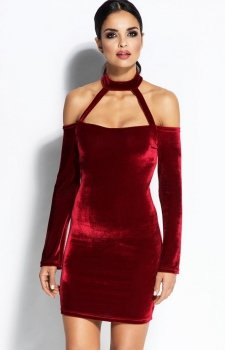 Dursi Callie sukienka bordowa