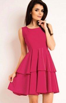Awama A163 sukienka różowa