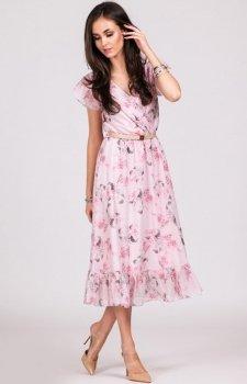 Szyfonowa sukienka w kwiaty 0250/D07
