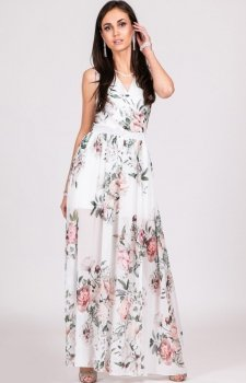 Kwiatowa sukienka maxi D31