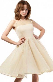 Moe MOE148 sukienka beżowa