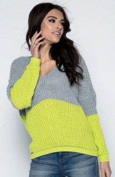 Fobya F490 sweter limonkowy