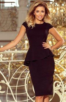 *Numoco 192-3 sukienka z baskinką czarna