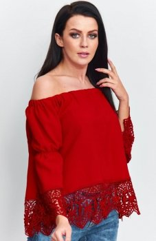 Roco B036 bluzka hiszpanka czerwona