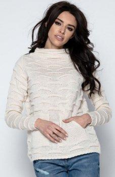 Fobya F486 sweter beżowy