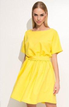 Makadamia M334 sukienka żółta