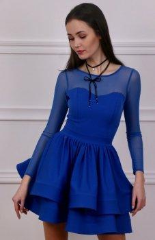 Roco 0228 sukienka chabrowa