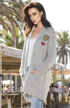 Lemoniade LS205 sweter jasny szary
