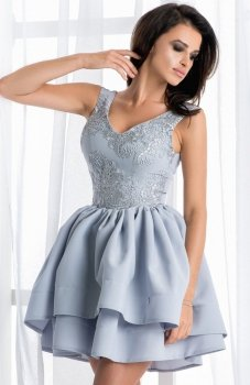 Bicotone 2118-03 sukienka szara