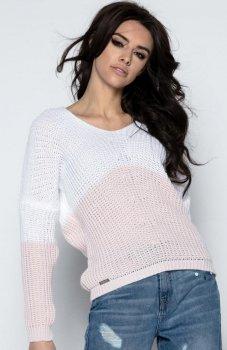Fobya F490 sweter pudrowy róż