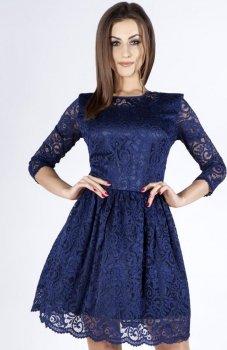 Bicot 2102-05 sukienka granatowa