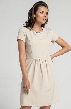 Nommo NA568 sukienka beżowa