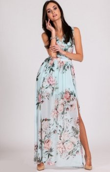 Kwiatowa sukienka maxi D04
