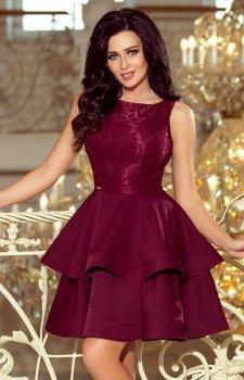 Numoco 205-2 Laura sukienka bordowa