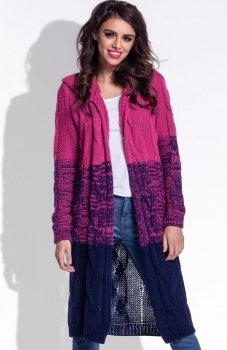 Fobya F337 ombre sweter amarantowy