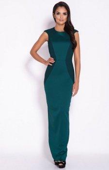 Długa sukienka Miron zielona