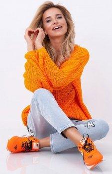 Fobya sweter oversize pomarańczowy F641