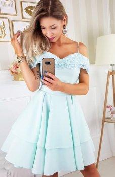 Bicotone 2142-18 sukienka miętowa