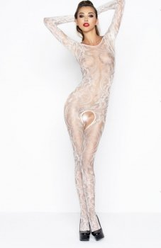 Passion BS042 bodystocking białe