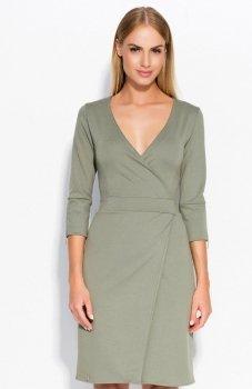 Makadamia M315 sukienka oliwkowa