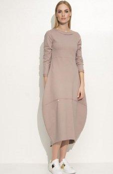 Makadamia M337 sukienka cappucino