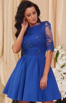 Roco 0084 sukienka chabrowa