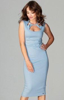 Lenitif K475 sukienka niebieska