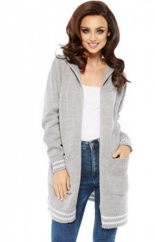 Lemoniade LS210 sweter kardigan szary