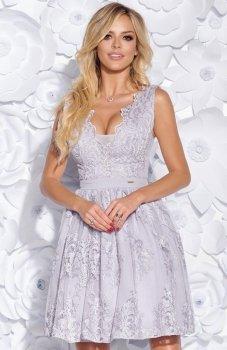 Bicotone 2153-03 sukienka szara