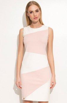 Makadamia M341 sukienka różowa