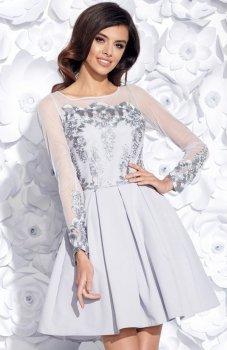 Bicotone 2157-03 sukienka szara