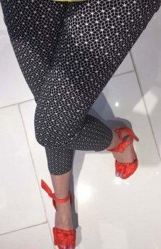 Lola Fashion spodnie cygaretki wzór 7