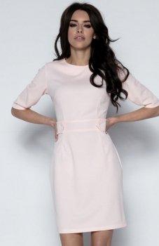 Fobya F492 sukienka pudrowy róż
