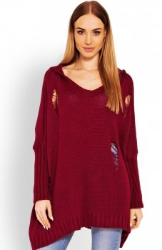 PeekaBoo 30055 sweter bordowy