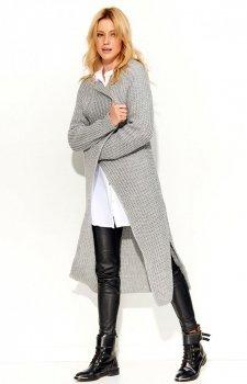 Makadamia S56 sweter szary