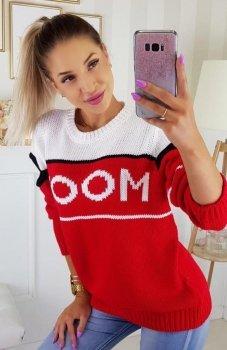 Carmel Mood sweter czerwony